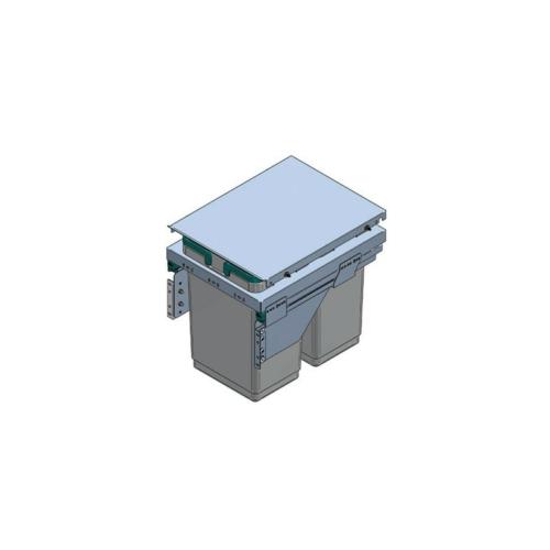 HULLADÉKGYŰJTŐ PGTM402RFG (2x20l) SZELEKTÍV 400mm-es szekrényhez SZÜRKE