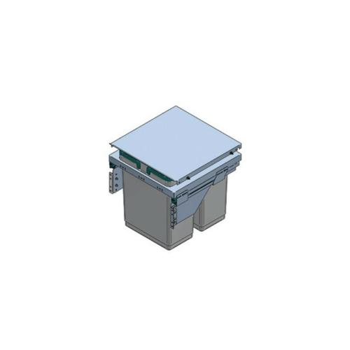 HULLADÉKGYŰJTŐ PGTM602RFG (2x36l) SZELEKTÍV 600mm-es szekrényhez SZÜRKE